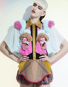 Yvonne Kwok SS 2013 collection London Graduate Fashion Week