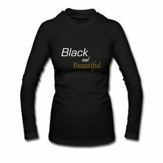 Black and beautiful slim-fit hoodie.  Seriously Natural Boutique.