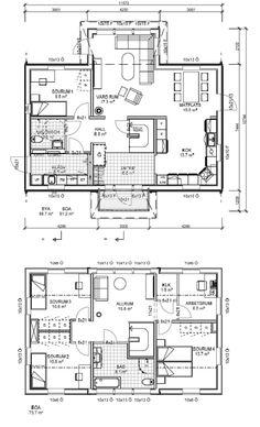 Husmodellen Villa Hagskär från Mälarvillan - Hus.se Villa, Floor Plans, Om, Fork, Villas, Floor Plan Drawing, House Floor Plans