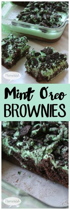 Mint oreo brownies this delicious oreo dessert is heavenly layered with mint marshmallow and cookies! get the recipe now! 17 mouthwatering oreo desserts you need to make right now Coconut Dessert, Oreo Dessert Recipes, Brownie Desserts, Brownie Recipes, Dessert Bars, Easy Desserts, Delicious Desserts, Yummy Food, Mint Desserts