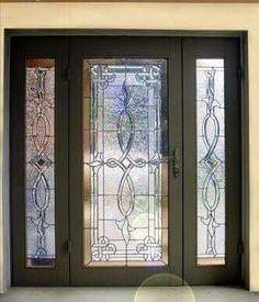 Front Doors With Glass Beveled Glass Mahogany Doors