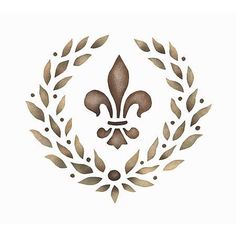 Stencils | Fleur de Lis Garland Wall Stencil | Royal Design Studio NEED for my dining room. Not so much a theme room, but several pieces with fleur de lis and a lot of NOLA art. I love this.