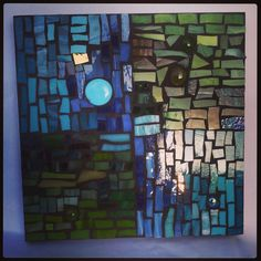 Mosaic glass picture.  Hey, I found this really awesome Etsy listing at https://www.etsy.com/listing/199541655/mosaic-panel-glass-picture-wall-home