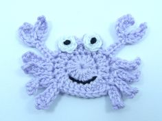 Aplique de Caranguejo em Crochê  - /    Apply than Crab on Crocheting -