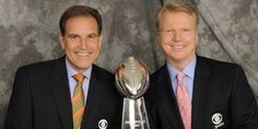 Jim Nantz and Phil Simms Phil Simms, Cbs Sports, Influential People, Meet The Team, New York Giants, Football Players, Make Me Smile, Superstar