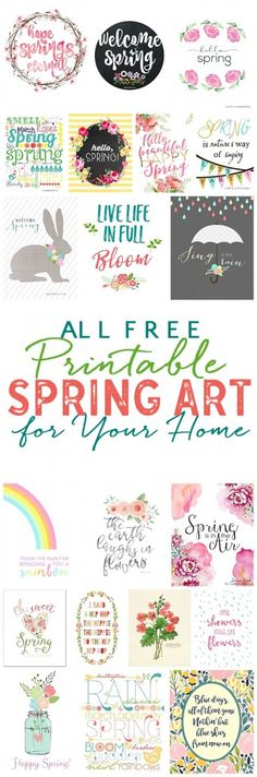Free Spring Printables -just pop in a frame and SPRING-i-fy your home decor in minutes!