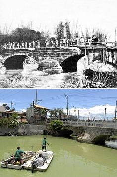 Spanish soldiers temporarily occupying the Zapote bridge in Cavite before retreating away from the advancing Filipino troops in June The bridge today separates Las Piñas, Metro Manila and Bacoor, Cavite Philippine Architecture, Exotic Beaches, Tropical Beaches, Old Bridges, The Spanish American War, Then And Now Photos, Filipino Culture, Manila Philippines, Enjoying The Sun