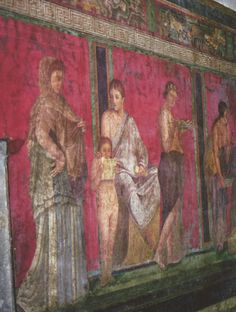 Group 3 A wall - Pompeii, Italy - frescos still hauntingly beautiful in many ruins. Ancient Ruins, Ancient Rome, Ancient Greece, Ancient Art, Ancient History, Pompeii Italy, Pompeii And Herculaneum, Pompeii Ruins, Roman History