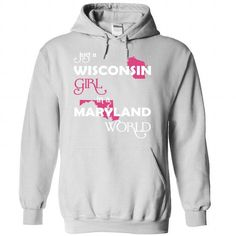 (Wisconsin002) Just A Wisconsin Girl In A Maryland Worl - #hoodie womens #gray sweater. WANT => https://www.sunfrog.com/Valentines/-28Wisconsin002-29-Just-A-Wisconsin-Girl-In-A-Maryland-World-White-Hoodie.html?68278