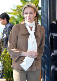 2012 - April - Princess Charlene at the Oceanic Museum of Monaco