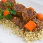 Cajun Red Beans with Chicken Sausage and Quinoa - http://myhealingkitchen.com/recipes-main/cajun-red-beans-with-chicken-sausage-and-quinoa/