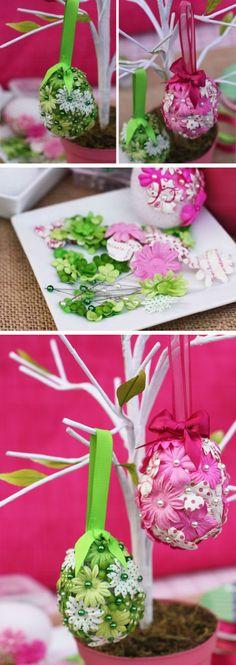 DIY Flower Easter Eggs | DIY Easter Decor Ideas for the Home | Easy Easter Decorations for Kids