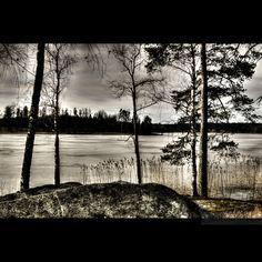 Vy över vatten. Salbohed. Sweden