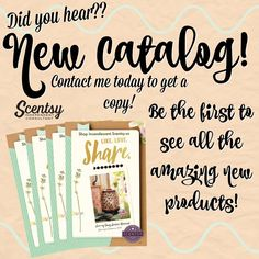 Scentsy's new catalog launches March 1, 2017! So many fabulous new warmers, fragrances, diffusers, etc.--be the first to experience them! Contact me for a catalog or to book your Spring party! Find me on Facebook, Tracy Todaro Independent Scentsy Consultant, todaro@fidnet.com, https://tracytodaro.scentsy.us