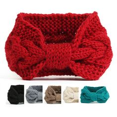 NISHAER Women's Chunky Knit Wide Headband Turban Styled Headwrap, Black, One size at Amazon Women's Clothing store: