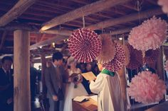 Victoria Wedding by It's Beautiful Here Victoria Wedding, Wedding Gallery, Ceiling Lights, Emu, Pom Poms, Homestead, Pictures, Decorations, Beautiful