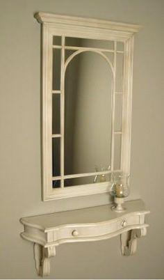 Espejo y consola a juego Ideas Para, Mirror, Interior, Furniture, Vintage, Home Decor, Narrow Hallways, Houses, Consoles