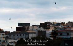 Helicópteros del Ejercito del Aíre sobrevuelan sobre Gran Canaria varias veces este mediodía      H...