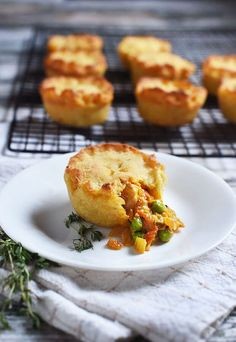 Keto Mini Chicken Pot Pies are perfect for packed lunches, or freezing for later!