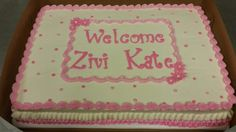 Welcome Baby cake for a girl