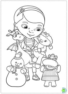Search Results » Doc Mcstuffin Coloring Page