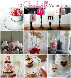 10 Goodwill Valentines Projects - great ideas at a great price! #valentines #valentinesday