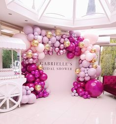 This bridal shower can serve as cute birthday party decor too! ・・・ Bridal Shower goals with this balloon arch from with a pop of colour! Balloon Centerpieces, Balloon Decorations, Birthday Decorations, Party Decoration, Bridal Shower Decorations, Wedding Decorations, Parties Decorations, Balloon Arch, Balloon Garland