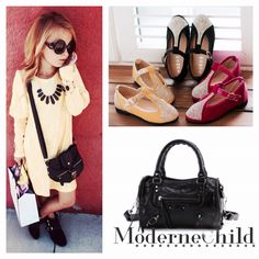✨ Here's another amazing mix and match from our shoppe! Pick up Miss Puff Sleeve Victoria Dress, black or gold rhinestone flats and Mini Motor Bag today at www.modernechild.com . Enjoy Free Shipping! ✨ #minime #motorbag #minimotorbag #balenciagainspired #puffsleevedress #yellowdress #girlsdress #rhinestoneshoes #kidsclothes #kidsshoes #adorablekidsclothes #trendykids #trendsetter #fashion #instafashion #modernechild