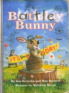 If you're looking for a gift of the literary variety, Jon Scieszka and Marc Barnett's Battle Bunny would be the perfect addition to any child's (or adult's) Easter basket:
