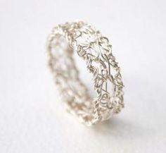 wire crochet ring by madeleine