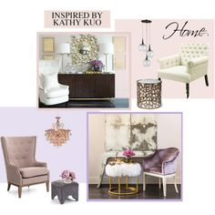 KATHY KUO HOME by marinadusanic on Polyvore featuring interior, interiors, interior design, home, home decor, interior decorating, New Growth Designs and modern