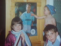 """""""@VincentKompany not quite what you were asking for, but, here's an old school pic of me and the siblings! #MeandKo"""" via @JessShaw on Twitter"""