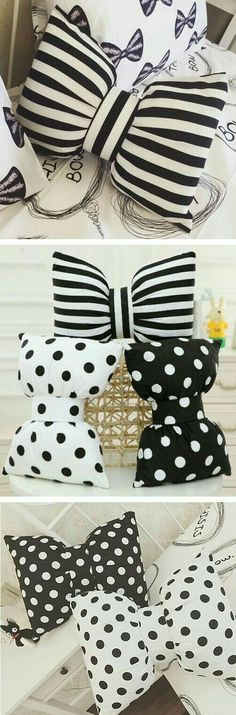 How to make bow pillows. Easy diy home decor. Bow Pillows, Sewing Pillows, Diy Throw Pillows, Cute Pillows, Kids Pillows, Craft Projects, Sewing Projects, Sewing Ideas, Diy And Crafts