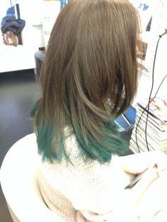 Happy Halloween 31 ottobre 2014 green hair chalk