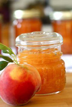 My favorite recipe for peach freezer jam. Peach Freezer Jam, Freezer Jam Recipes, Canning Recipes, Freezer Salsa, My Favorite Food, Favorite Recipes, Peach Jam, C'est Bon, Organic Recipes