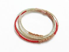 Long Seed Bead Necklace, Delicate Beaded Multi Wrap Bracelet, Beaded Necklace, Seed Bead Jewelry on Etsy, $24.00