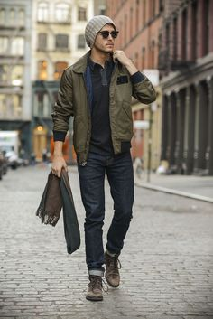 Adam Gallagher of I AM GALLA wearing The Dylan in Alpha | #denim #streetstyle