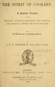 The spirit of cookery. A popular treatise on th...