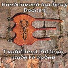 """Traditional Longbow Archery Arm Guard (Black Celtic Dog Design)"""