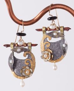 Silver Lily Pad paper Earrings, Earrings, Jewelry, Home - The Museum Shop of The Art Institute of Chicago