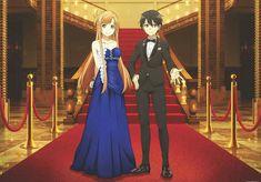 Yuuki Asuna & Kirigaya Kazuto - By Sword Art Online ღ Anime Yugioh, Anime Pokemon, Anime Plus, Anime W, Sword Art Online Asuna, Online Anime, Online Art, Anime Quotes Tumblr, Anime Body