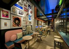 RE Cafe and Dining Bar in Thessaloniki, Greece by Minas Kosmidis