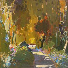 Autumn, 1996 - oil on canvas, 70 x 70 cm - Albanian artist Pashk Pervathi