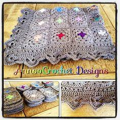 Annoo's Crochet World: Color Pop Granny Blanket Free Pattern