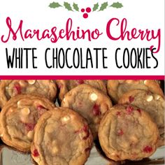 These cookies are seriously good! I love the combination of the white chocolate and the cherries. Plus, they're pretty and festive for the holidays!