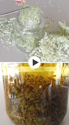Elderflower infusion oils are known for their soothing effect, improving skin complexion and are especially useful for older skin. However they are also very effective in treating acne and sunburns. Natural Home Remedies, Natural Healing, Herbal Remedies, Cold Remedies, Health Remedies, Diy Beauté, Cosmetics Industry, Infused Oils, Elderflower