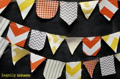 Bunting banner Halloween Fall Autumn scrap by LegallyTwinsane, $13.00