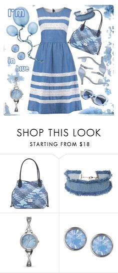 """I'm in blue..."" by amisha73 ❤ liked on Polyvore featuring Gabor, Pinko, DANNIJO, Allurez and Lonna & Lilly"