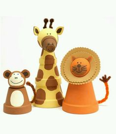 Clay pot animals project