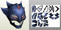 Knight of the Twin Moon Helmet Papercraft. This mask would be cool for a masquerade or just for Halloween!
